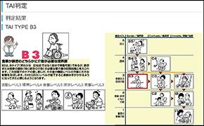 TAI-イラストを利用したアセスメントの画面